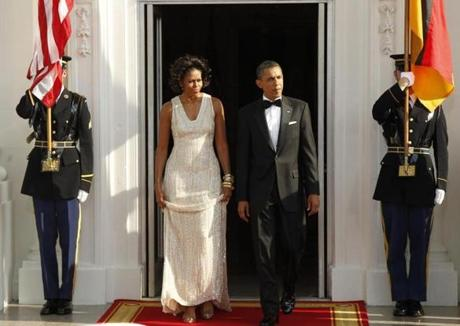 Naeem Khan: The designer has been a favorite of the first lady — she wore a stunning gold Khan gown to a state dinner for the prime minister of India. But Obama may decide to steer clear of Khan because he is currently being sued by two fabric merchants who claim they were not paid by the designer.